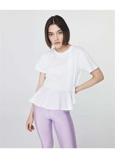 Twist Kadın Dokuma Mixli  Tişört TS1210070056002 Beyaz